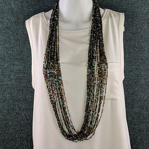 Gorgeous Vintage Multi-Strand Beaded Long Necklace